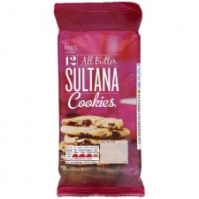 Marks and Spencer 12 All Butter Sultana Cookies 200g.